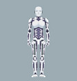 stand robot android technology science fiction vector image vector image