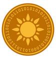 sun digital coin vector image vector image