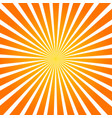 sun rays orange background spiral vector image vector image