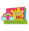 super sale on premium quality product discounts vector image