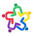teamwork clip hug logo vector image vector image