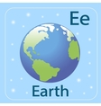 The English letter E and the planet Earth vector image vector image