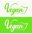 Vegan hand written calligraphy lettering with vector image