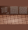 vnn laminate square with inserts vector image vector image