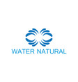 water natural logo vector image vector image