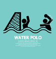 Water Polo Sport Sign vector image