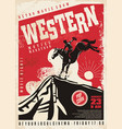 western movies poster template vector image