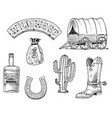 wild west rodeo show sheriff cowboy or indians vector image vector image