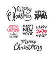 winter holidays lettering set vector image vector image
