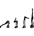 Yoga pose Sirsasana vector image vector image