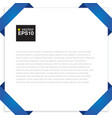 Blank paper with blue origami frame EPS10 vector image