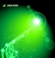 Energy from a distant green star vector image