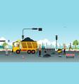 road surface repair vector image