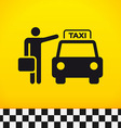 Taxi Theme with Passenger vector image