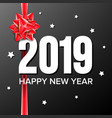 2019 happy new year background numbers vector image