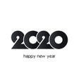 2020 year numbers creative design on white vector image vector image