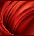 3d realistic flowing red fabric background vector image vector image