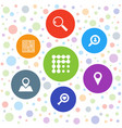 7 search icons vector image vector image
