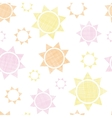 Abstract textile colroful suns geometric seamless vector image vector image