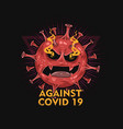 against corona virus vector image