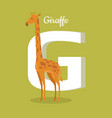 animals alphabet letter - g vector image vector image