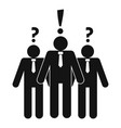 asking teamwork icon simple style vector image vector image