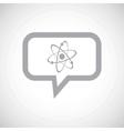 Atom grey message icon vector image vector image