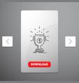 award cup prize reward victory line icon in vector image vector image