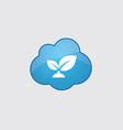 Blue cloud plant icon vector image
