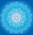 blue glowing mandala stylish design greeting card vector image vector image