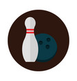 bowling ball and pin equipment game recreational vector image
