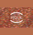 brick texture seamless wall background grunge vector image