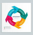 business arrow infographic template vector image vector image