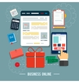 Business online icons vector image
