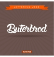 buterbrod text lettering logo vector image