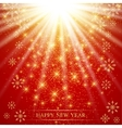 Christmas and Happy New Years on the red vector image vector image