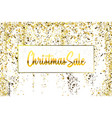 christmas sale gold glitter confetti texture on a vector image