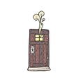 comic cartoon old wood door vector image vector image