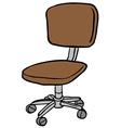 computer chair vector image vector image
