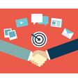 Customer Relationship Management Content marketing vector image vector image