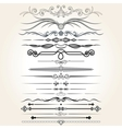 Decorative Rule Lines Design Elements vector image vector image