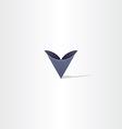 deep blue abstract letter v symbol logo vector image vector image