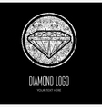 Diamond grunge logo 2 vector image