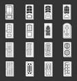 door icons set grey vector image vector image