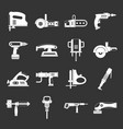 electric tools icons set grey vector image vector image