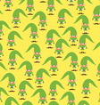 Elf seamless pattern Christmas background Ornament vector image