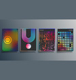 gradient and minimal line design for background vector image