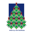 greeting card christmas tree vector image vector image