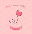 heart shaped air balloon vector image vector image