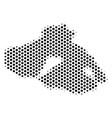 hex-tile greek lesbos island map vector image vector image